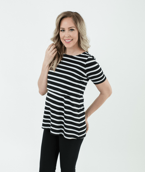 BOLD STRIPE Nursing Shirt from Undercover Mama