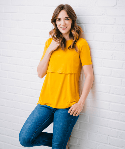 Mustard Nursing Shirt from Undercover Mama
