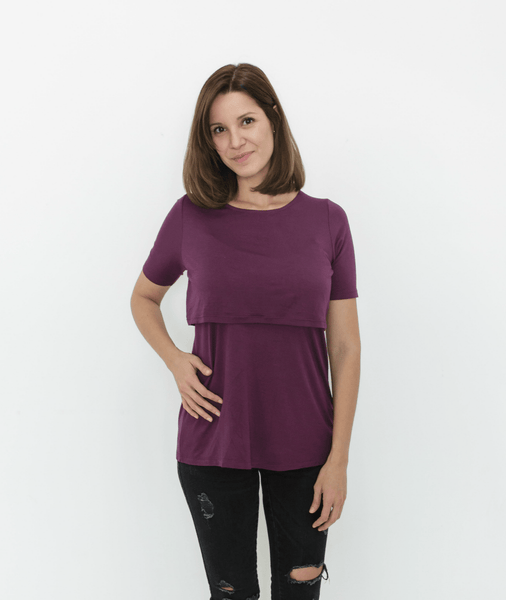 Plum Nursing Shirt from Undercover Mama