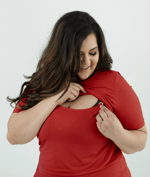 Red Nursing Shirt from Undercover Mama