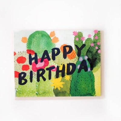 Cacti Birthday Card