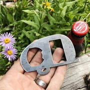 Canned Ham Style Camper RV Rustic Steel Bottle Opener
