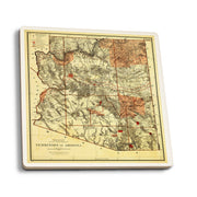 Arizona Territory 1887 Map Coaster