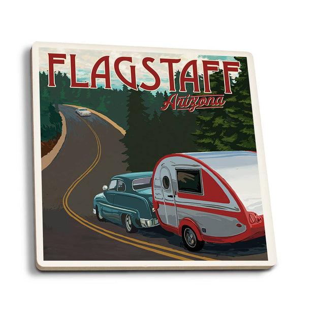 Flagstaff Retro Camper Coaster