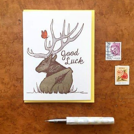 Good Luck Elk Card