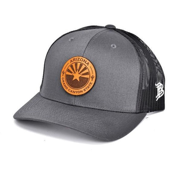 The Arizona Curved Trucker Hat - Charcoal / Black