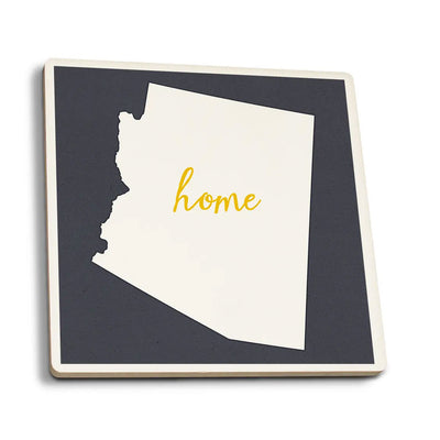White Arizona Home State Coaster
