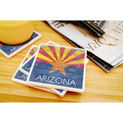 Arizona Rustic State Flag Coaster