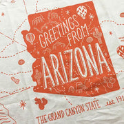 Greetings From Arizona Tea Towel