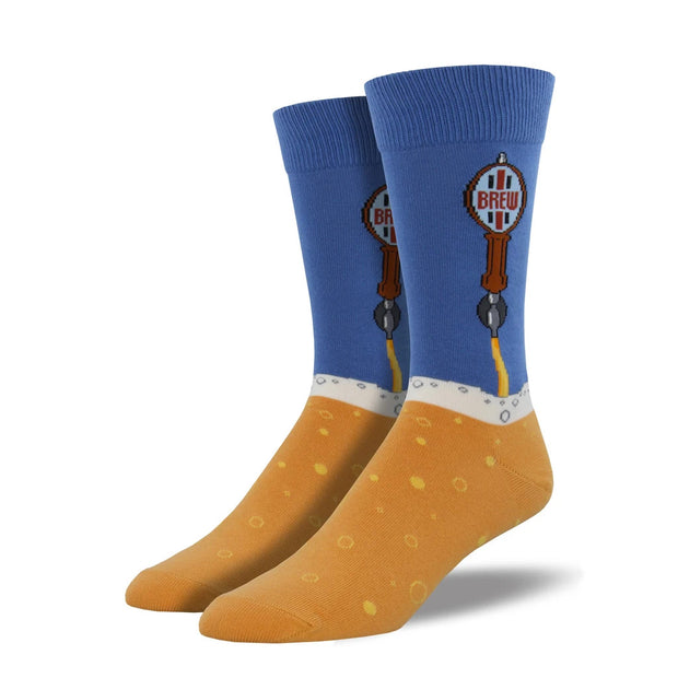 Men's Beer Tap Socks - Blue