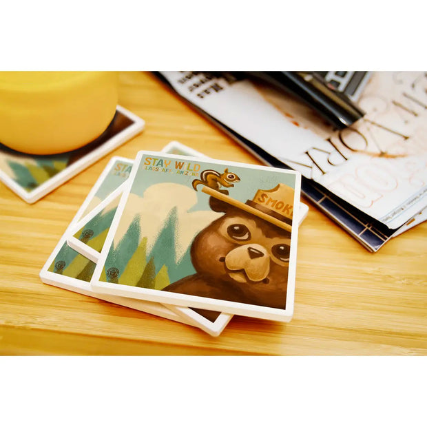 Stay Wild Smokey Bear Coaster