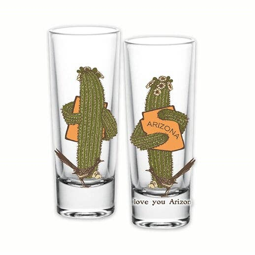 AZ Saguaro Hug Shot Glass