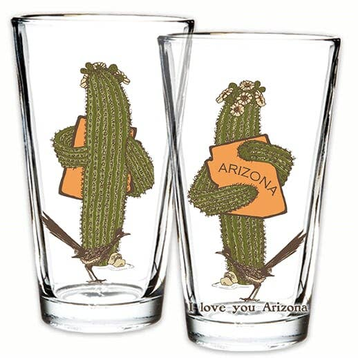 AZ Saguaro Hug Pint Glass