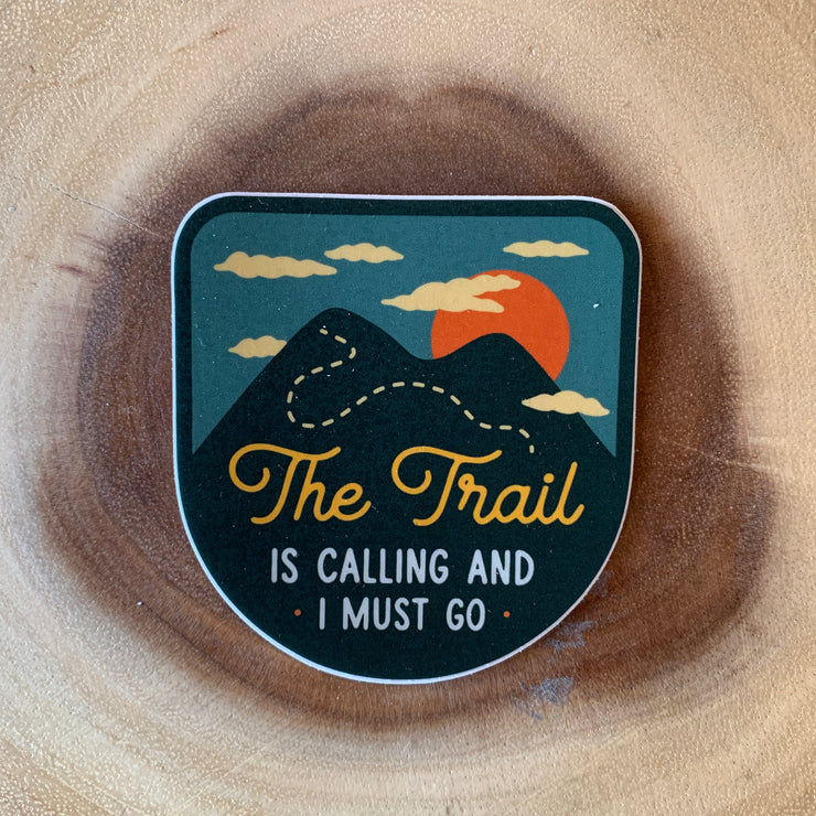 The Trail Is Calling Sticker