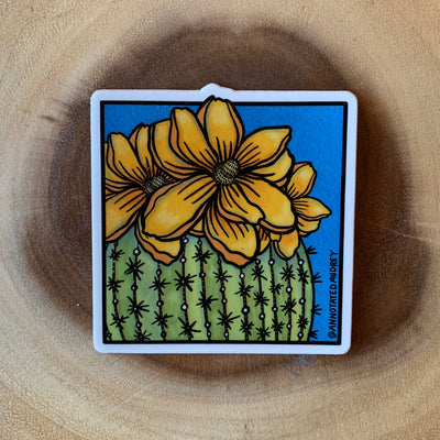Blooming Cactus Sticker
