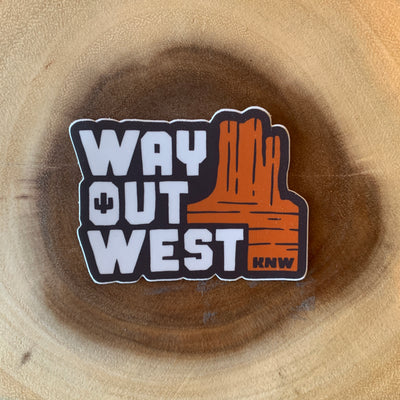 Way Out West Sticker