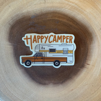 Retro Happy Camper Sticker