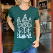 Stand Tall Forest Unisex Tee - Emerald