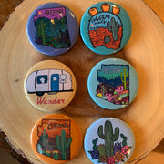 Orange Arizona Large Magnet