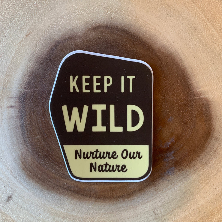 Keep It Wild Signpost Sticker
