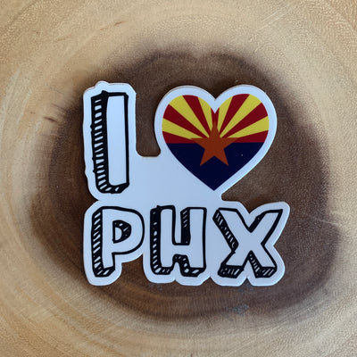 I Heart Phoenix Sticker