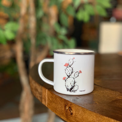 Prickly Pear Enamel Camp Mug