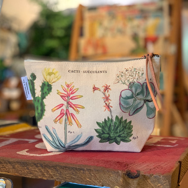 Canvas Succulents Pouch