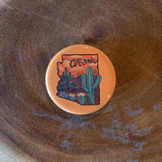 Arizona Orange Mini Magnet