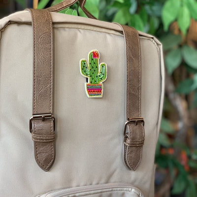 Flower Cactus Stick-On Patch