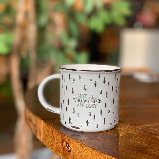 Not All Who Wander Camp Mug