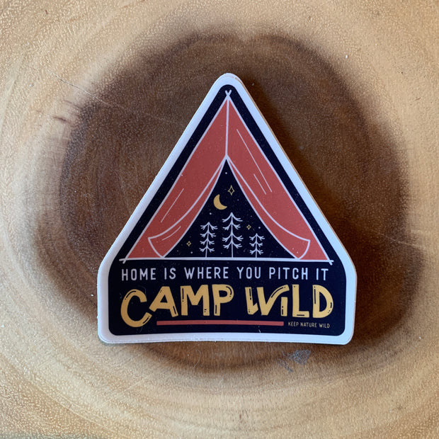 Camp Wild Sticker