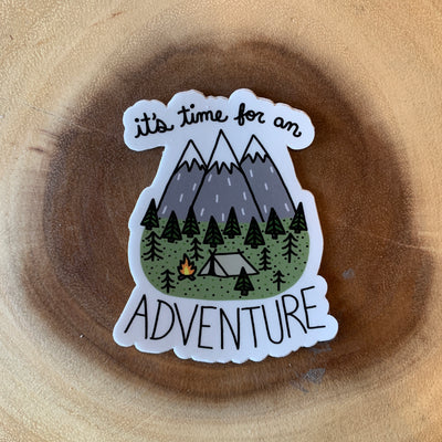 Time for Adventure Sticker