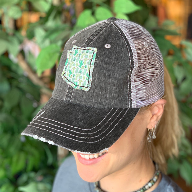 Cactus Patch Vintage Distressed Trucker Hat