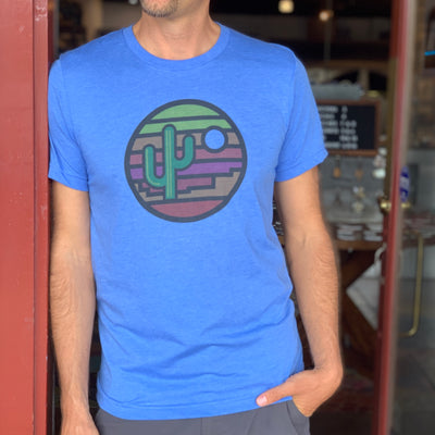 Saguaro Sunset Unisex Tee - True Blue