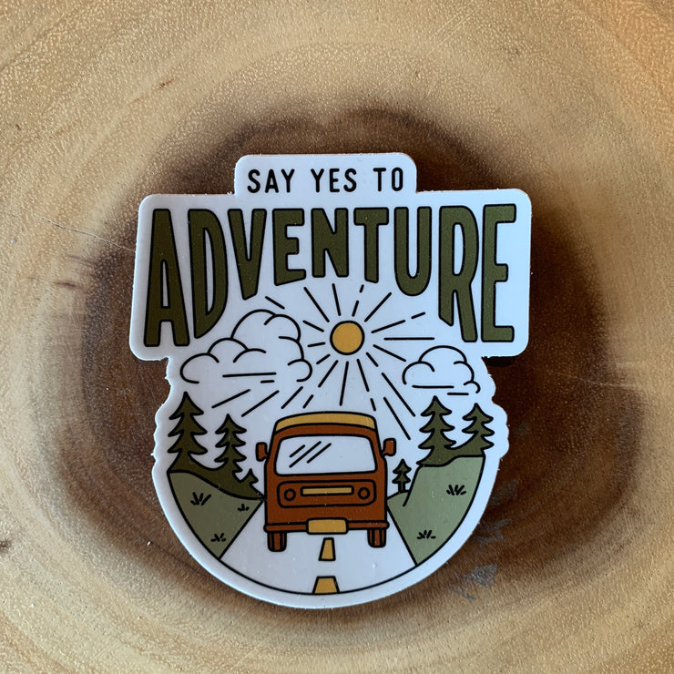 Yes to Adventure Sticker