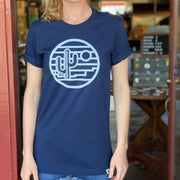 Saguaro Sunset Unisex Tee - Navy