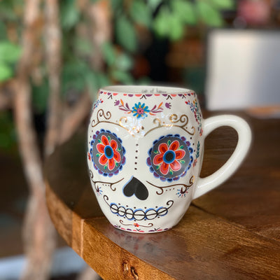 Decorative Skull Mug