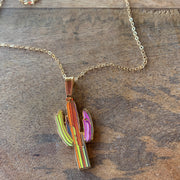 Watercolor Saguaro Necklace