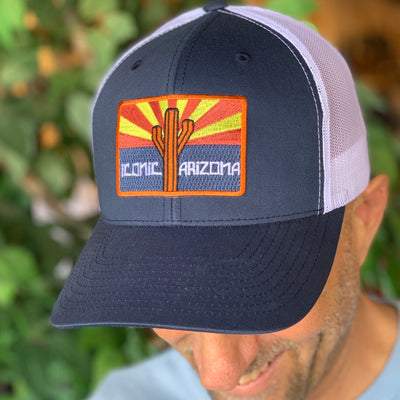 Iconic Arizona Sunset Trucker - Navy