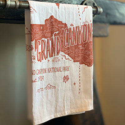Greetings From The Grand Canyon Tea Towel