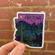 Purple Arizona Sticker