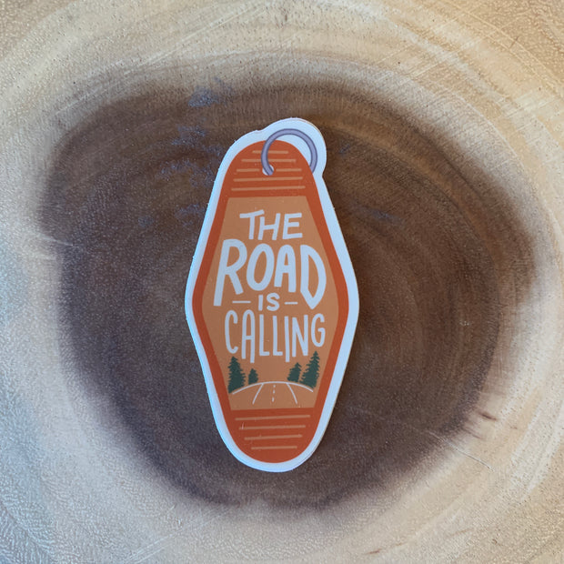Road is Calling Sticker