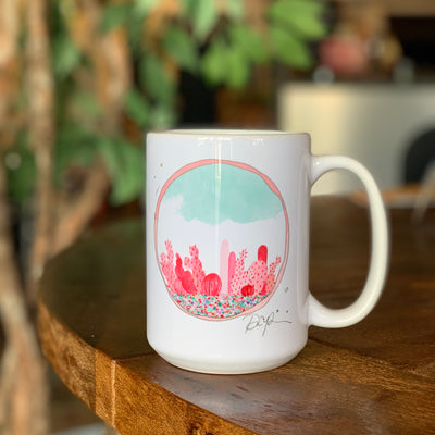 Prickly Pear Garden Watercolor Mug