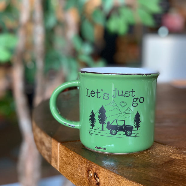Let's Just Go Jeep Camp Mug