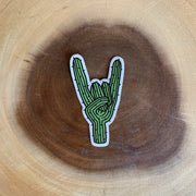 Rock On Cactus Sticker