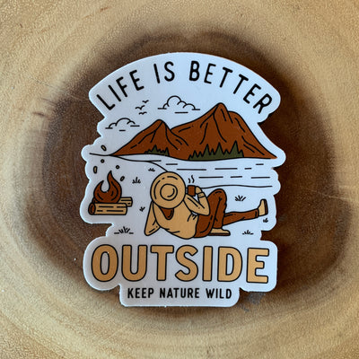 Life Is Better Outside Sticker