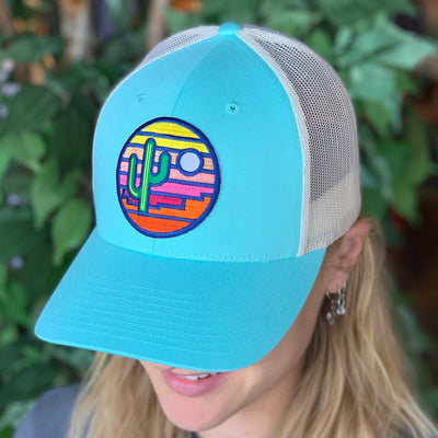 Sonoran Sunset Trucker - Teal