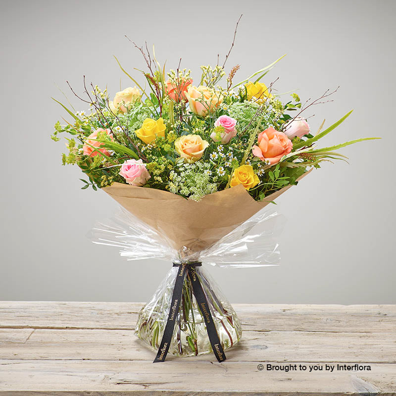 Zesty Rose Hand-tied