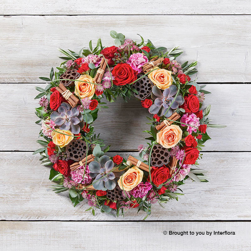 Christmas Sunrise Door Wreath
