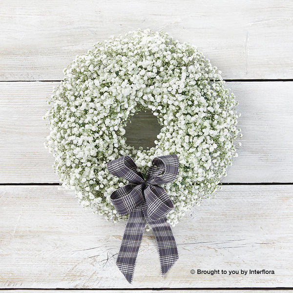 Magical Christmas Gypsophila Door Wreath